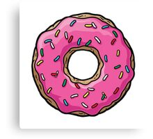 The Simpsons - Doughnut Canvas Print