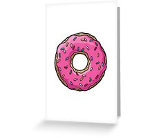 The Simpsons - Doughnut Greeting Card