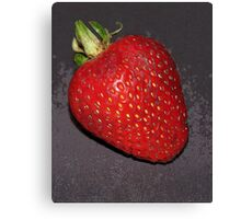 strawberry enhanced Canvas Print