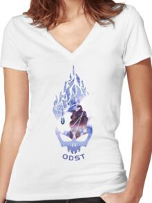 Halo ODST Women's Fitted V-Neck T-Shirt