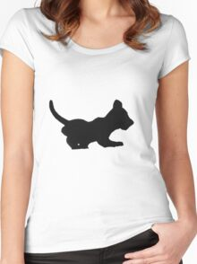 Playful Cub Women's Fitted Scoop T-Shirt