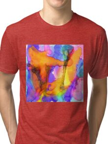 1 Art Abstract Watercolor Modern Prints by Robert R (Erod Art) Tri-blend T-Shirt