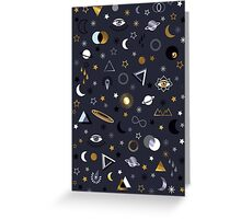 Galaxy (gold and silver) Greeting Card