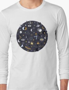 Galaxy (gold and silver) Long Sleeve T-Shirt