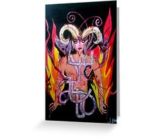The Devil - My Witch Tarot Set Greeting Card