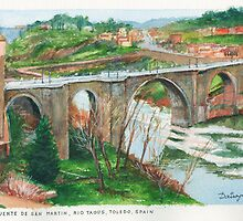 Puente de San Martin, Toledo by Dai Wynn