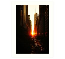 Manhattanhenge Sunset Midtown New York City Art Print