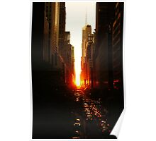 Manhattanhenge Sunset Midtown New York City Poster