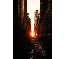 Manhattanhenge Sunset Midtown New York City Photographic Print