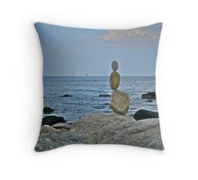 Sailing ~ Flying ~ Floating ~ or Meditating ~ Toward the Ocean Throw Pillow