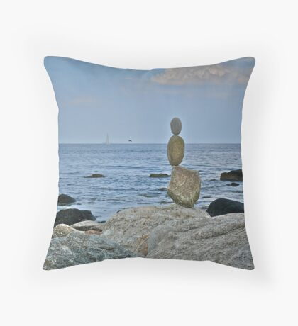 Sailing ~ Flying ~ Floating ~ or Meditating ~ Toward the Ocean Throw Pillow
