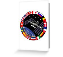 ISS Composite Logo Greeting Card