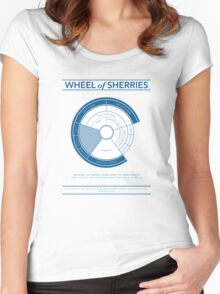 The Wheel of Sherries Women's Fitted Scoop T-Shirt