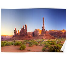 The Totem Pole (Monument Valley, Arizona) Poster