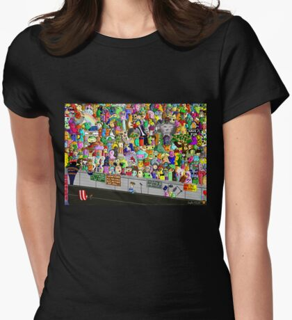 Front Row Womens Fitted T-Shirt