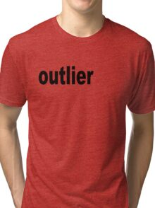 Outlier moved off the Center for Statisticians Tri-blend T-Shirt
