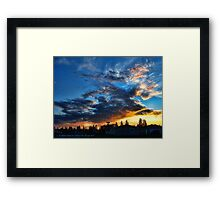 Storm's Trail (Northwestern Sunset) Framed Print