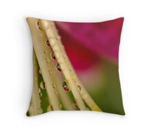 Happy Droplets Throw Pillow