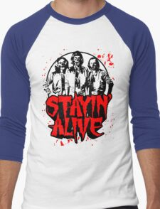 Stayin' Alive 2 (Zom-Bee Gees) Men's Baseball ¾ T-Shirt