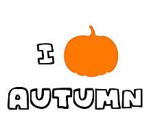 I Heart Autumn Photographic Print