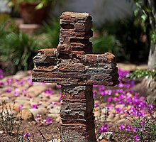 Brick Cross (San Diego Spanish Mission, California) by Brendon Perkins