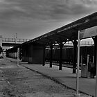Hay Market Train Station B&W by Christopher Hanke