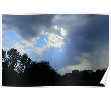God's Rays on Haying Day Poster