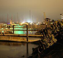 Docks at night -Monterey Bay by MarthaBurns