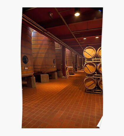 Red Wine Aging Vats (Robert Mondavi Winery, Napa Valley, California) Poster