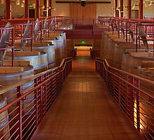 Red Wine Vats (Robert Mondavi Winery, Napa Valley, California) by Brendon Perkins