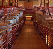 Red Wine Vats (Robert Mondavi Winery, Napa Valley, California) by Brendon Perkins