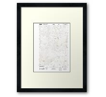 USGS Topo Map Oregon Pinhead Buttes 20110811 TM Framed Print