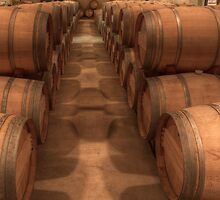 White Wine Aging Room (Robert Mondavi Winery, Napa Valley, California) by Brendon Perkins