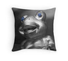 Frog with Blue eyes Throw Pillow