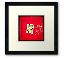 Red Cat Framed Print