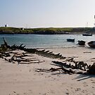 Boat Wreck, Scarinish Harbour - Tiree, Scotland by laurawhitaker