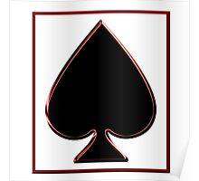 Black Spade in a Frame Poster