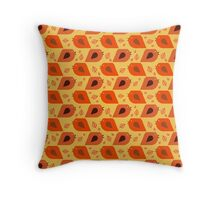 Fall Bird and Leaf Pattern Throw Pillow
