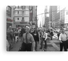NYC rush! Canvas Print