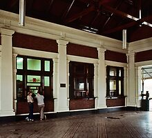 Main Booking Office Maryborough Railway Station  198005120002 by Fred Mitchell