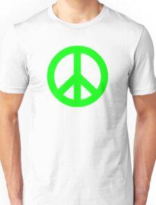 Bright Green Peace Sign Symbol Unisex T-Shirt