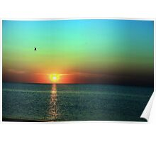 Multi-Color Sunset Poster