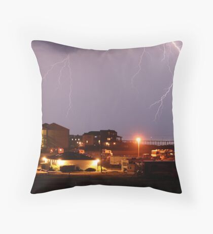 Outer Banks Light Show Throw Pillow