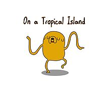 Adventure Time On a Tropical Island Photographic Print