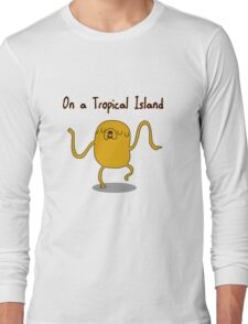 Adventure Time On a Tropical Island Long Sleeve T-Shirt