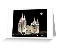 Salt Lake Temple by moonlight 20x24 Greeting Card