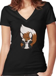 Sup Fox Women's Fitted V-Neck T-Shirt