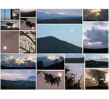 Moon/Clouds/Mountains - Maan/Wolke/Berge Photographic Print