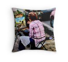 St. Petersburg Working Artist Throw Pillow