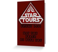 Star Tours 1401- RED Greeting Card